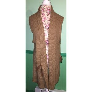 H&M Duster Length Sleeveless Belted Cardigan L